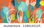 creative doodle art header with ... | Shutterstock .eps vector #1180142125