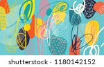 creative doodle art header with ... | Shutterstock .eps vector #1180142152