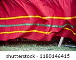 red decoration clothes moving... | Shutterstock . vector #1180146415