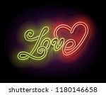 vintage glow signboard with... | Shutterstock .eps vector #1180146658