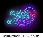 vintage glow signboard with...   Shutterstock .eps vector #1180146685
