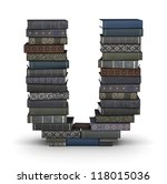 letter u  stacked from many ... | Shutterstock . vector #118015036