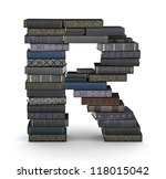 letter r  stacked from many ... | Shutterstock . vector #118015042