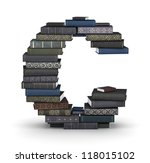 letter c  stacked from many ... | Shutterstock . vector #118015102