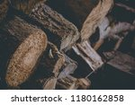 firewood for the winter  stacks ... | Shutterstock . vector #1180162858