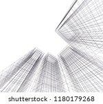 conceptual architecture 3d  | Shutterstock .eps vector #1180179268