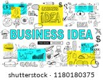 big idea  concept with doodle... | Shutterstock . vector #1180180375