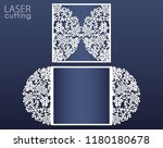 laser cut wedding card template ... | Shutterstock .eps vector #1180180678