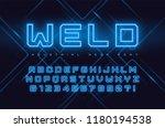 vector neon industrial style... | Shutterstock .eps vector #1180194538