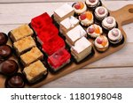 catering sweets  closeup of... | Shutterstock . vector #1180198048