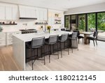 kitchen interior in new luxury... | Shutterstock . vector #1180212145