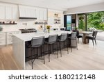 kitchen interior in new luxury... | Shutterstock . vector #1180212148