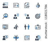 employment and business icons   ...   Shutterstock .eps vector #118021786