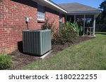 air conditioner system next to... | Shutterstock . vector #1180222255