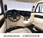 autonomous truck interior with... | Shutterstock . vector #1180231018