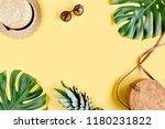 women's accessories traveler ... | Shutterstock . vector #1180231822