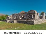 tulum is the site of a pre... | Shutterstock . vector #1180237372