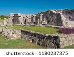 tulum is the site of a pre... | Shutterstock . vector #1180237375
