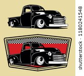 classic truck illustration | Shutterstock .eps vector #1180241548