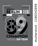 berlin champion t shirt design | Shutterstock .eps vector #1180242898