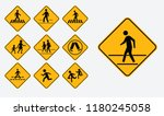 set of school zone street or... | Shutterstock .eps vector #1180245058