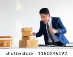 angry furious businessman... | Shutterstock . vector #1180246192