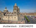mexico city central zocalo... | Shutterstock . vector #1180248295