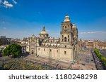 mexico city central zocalo... | Shutterstock . vector #1180248298