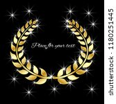 vector golden laurel wreath... | Shutterstock .eps vector #1180251445
