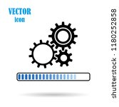 vector gear  flat icon  on... | Shutterstock .eps vector #1180252858