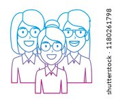 beautiful women with glasses... | Shutterstock .eps vector #1180261798