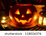 Stock photo halloween jack o lantern pumpkin 118026376