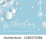 white christmas holiday... | Shutterstock .eps vector #1180275388