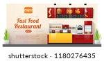 interior background with modern ... | Shutterstock .eps vector #1180276435