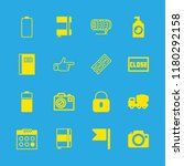 close icons set with photo... | Shutterstock .eps vector #1180292158
