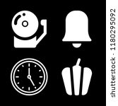 bell icons set with school bell ... | Shutterstock .eps vector #1180295092