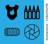 shot icons set with bullets ... | Shutterstock .eps vector #1180296298