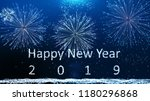 happy new year 2019  firework... | Shutterstock . vector #1180296868