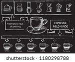 sketch hand drawn coffee set... | Shutterstock .eps vector #1180298788