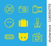 9 camera icons with suitcase... | Shutterstock .eps vector #1180304755