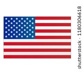 usa flag vector | Shutterstock .eps vector #1180306618