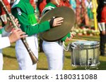 green and white uniform cymbals ...   Shutterstock . vector #1180311088