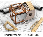 house project with model ... | Shutterstock . vector #118031236