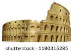 the colosseum monument rome... | Shutterstock . vector #1180315285