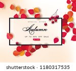 autumn sale background template.... | Shutterstock .eps vector #1180317535