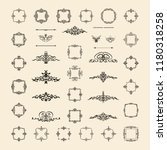 vintage decor elements and...   Shutterstock .eps vector #1180318258