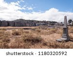antique cemetery located at san ... | Shutterstock . vector #1180320592