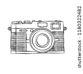 hand drawn of camera isolated... | Shutterstock .eps vector #1180322482