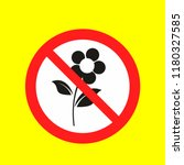 pick flowers no allowed caution ... | Shutterstock .eps vector #1180327585