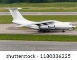 big cargo freight plane is... | Shutterstock . vector #1180336225